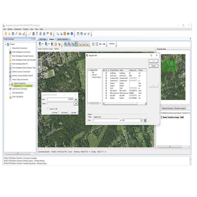 نرم افزار نقشه برداری ماشین حساب ژئوگرافیک