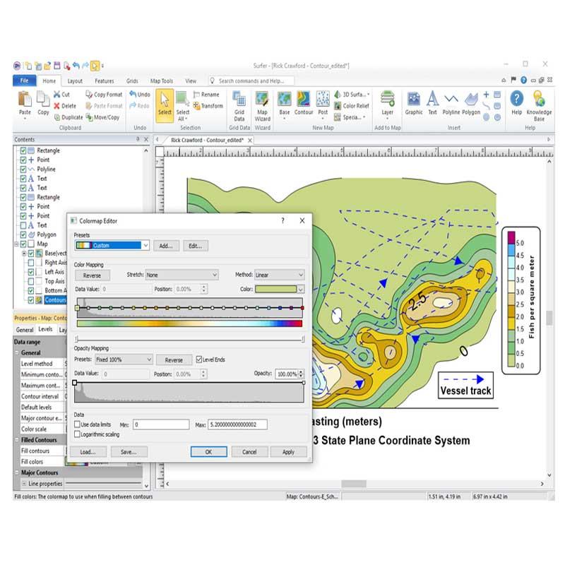 نرم افزار Golden Software Surfer